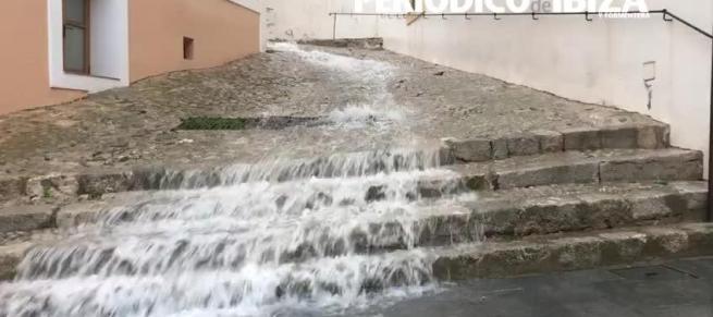 Temporal de lluvia en Ibiza: Sant Antoni registra más de 120 litros por metro cuadrado