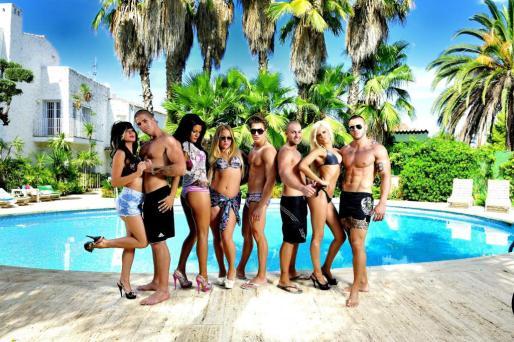 """Imagen promocional facilitada por el canal MTV de los participantes en el espacio """"Gandía Shore""""."""