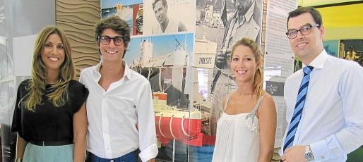 Blanca, Paula y Pablo Fuster junto a Rubén Pieters, de Rolex.