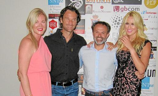 Vicky Abiega, Carlos Moyà, Jorge Muñoz y Carolina Cerezuela
