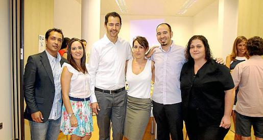 Oscar Gullon, Beatriz López, Cristian Parra, Marga Pallicer, Juanjo Buendía y Manuela Estévez.