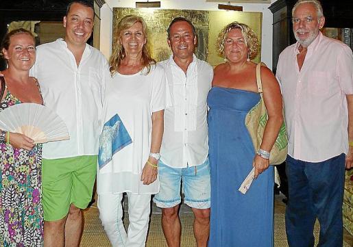 María, Pedro Aguiló, Miquela Vidal, Carlos Alvarez, Fátima Coll y Tomeu Burguera.