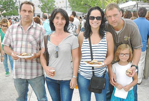 Antoni Grau, Maria Amengual, Raquel Cortés, Erika Reines y Jaume Reines.