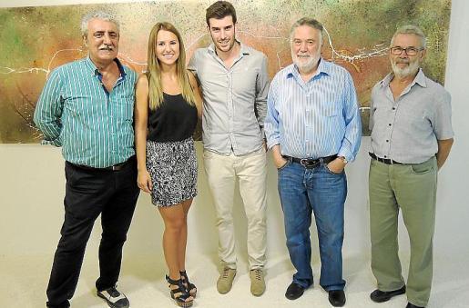 Joan Mariando, Joana Marí, Biel Perelló, Joan Lacomba y Antoni Marquet.
