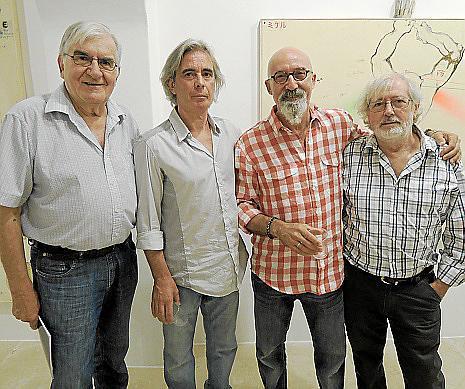 Rafael Amengual, Llorenç Femenías, Miquel Mesquida y Llorenç Ginard.