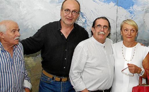 Joan Cunill, Pere Lorente, Tolo Albertí y Felisa García.