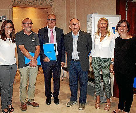 Sandra Caro, Manuel Palacios, Jaume Farré, Tomeu Catalá, Marilén Morey y Carmen Pujol.