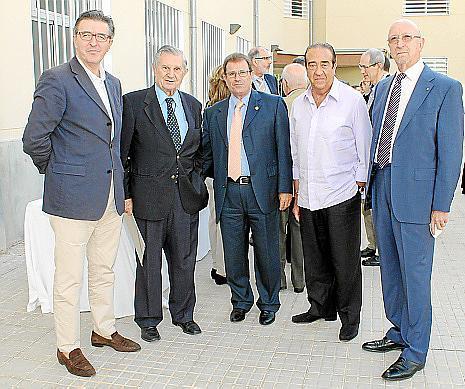 Juan Francisco Ibáñez, José Oliver, Llorenç Huguet, Tomeu Company y Tomás Garrido.