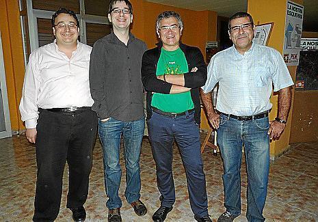 Andreu Caballero, Biel Frontera, Antoni Rodríguez y Pere Quetglas.