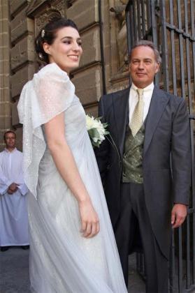 Eugenia Ortiz, el día de su boda junto a su padre Bertín Osborne.