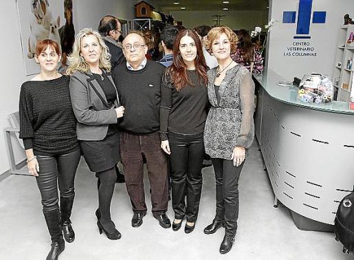 Elena Ghenciu, Cati Reynés, Agustí Álvarez, Xesca Serra y Carmen Melsion.