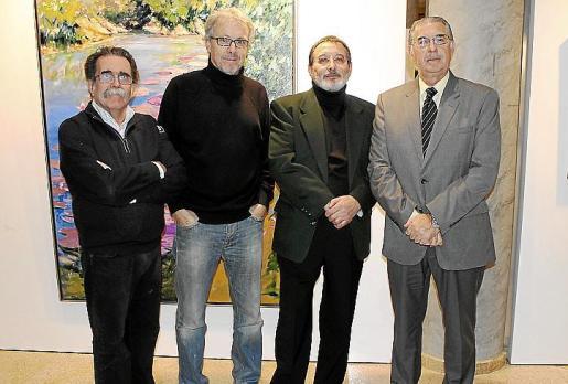 Tolo Albertí, Lluís Maraver, Juan Manuel Pastor y Antonio Comas.
