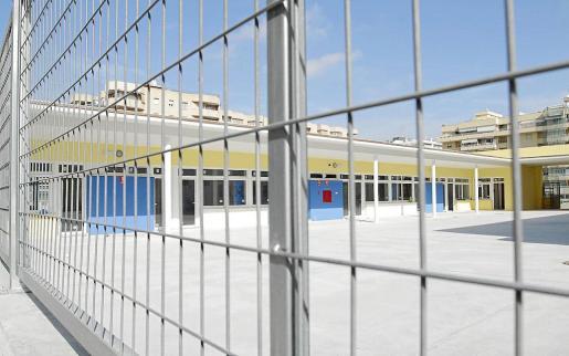 Estado actual de las obras del colegio de Sa Graduada, paradas de nuevo por el conflicto económico.