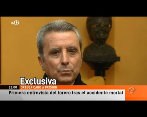 Imagen de José Ortega Cano, durante la entrevista.