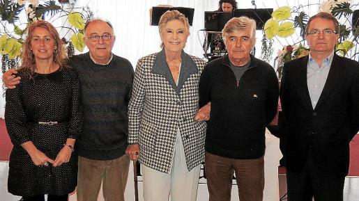 Maribel Crespí, Tomeu Català, María Teresa Rattier, Pedro Prieto y Joan Rotger.