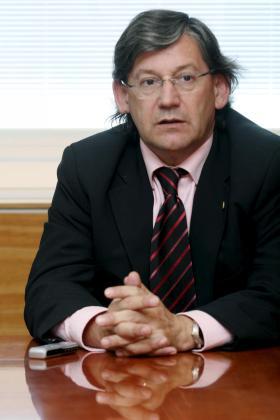 El conseller Vicenç Thomàs, durante la entrevista en Eivissa.