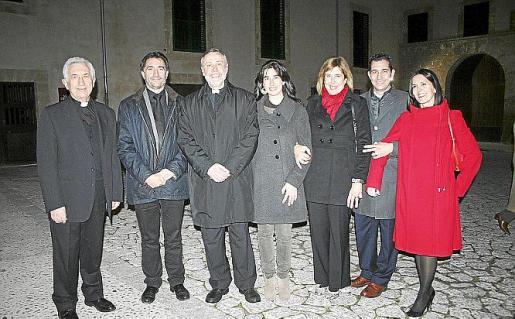 Joan Bauzá, Xavi Bonet, Lluc Riera, María Veny, Marilena Orell, Matias y Mercedes Veny.