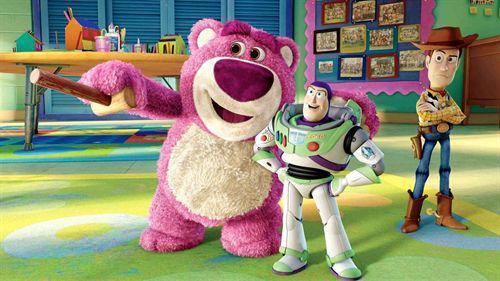 Lotso es el oso rosa de Toy Story 3.
