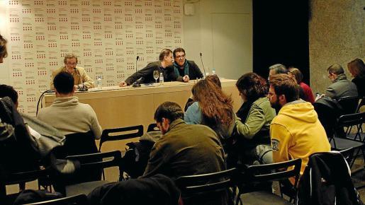 Cebel, Ramon Mayol y Justo Sotelo, el miércoles, durante la presentación del audiolibro y del libro electrónico.