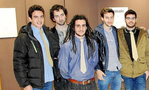 Xesc Manresa, Joan Rusca, Joan Morey, Marc Bernardí y Rafa Caldés.