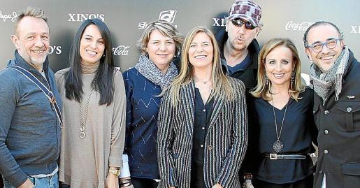 Rafa, Cristina, Ana Cartanya, Juana Mari Coll, Luis, Mabel Cabrer y Pedro Mesquida.