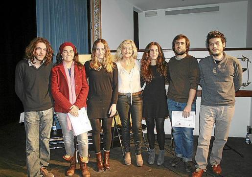 Sergio Rigo, Aina Darder, María Rotger, Bel Cerdà, Marian Vilalta, Pere Bestard y Emili Sánchez.