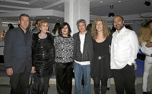 Marcelius, Celia Velasco, Conchi Villamil, Alejandro Macià, Rosa Marin y Manuel Guitart.