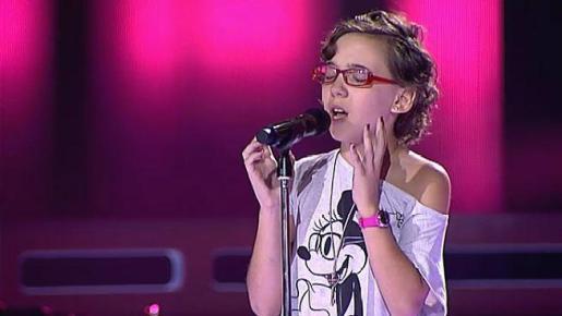 Iraila La Torre, durante su actuación en La Voz Kids.