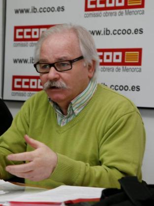 Ginés Díez, de CCOO, en una imagen de archivo, tomada el pasado día 7.