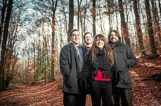 El grupo, en su formato como cuarteto con el que han iniciado la gira de su nuevo trabajo discográfico, 'Oír tu voz'.