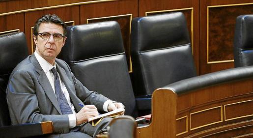 El ministro de Industria José Manuel Soria, en una imagen de archivo en el Congreso de los Diputados.