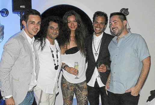 Óscar Royo, Giagi Kubanac, Natalia, Florencio Cruz y Sebas Ramis.