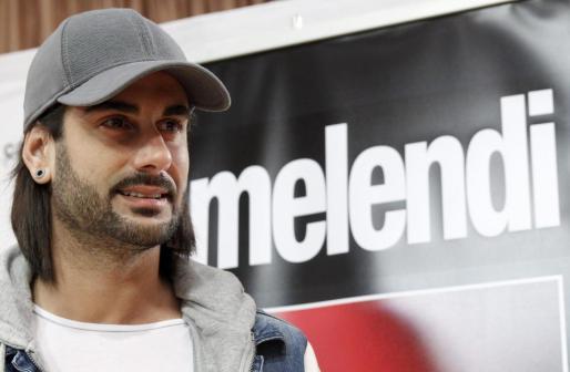 Melendi, durante la presentación de su gira.