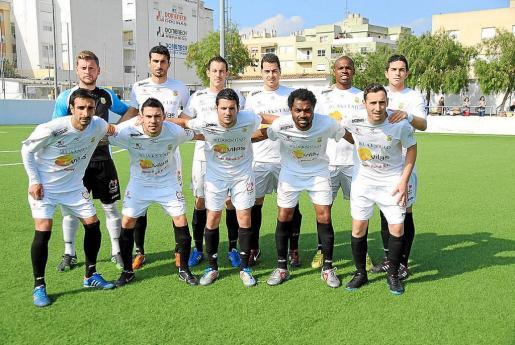 Un reciente once titular de la Peña Deportiva, segunda clasificada de la Tercera balear.