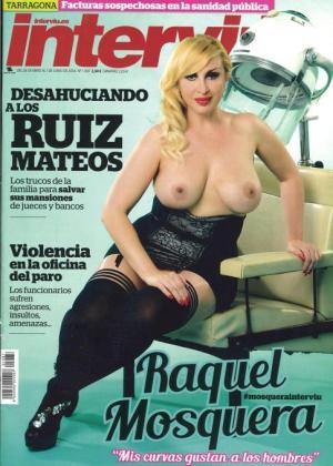 Raquel Mosquera, en la portada de Interviú.