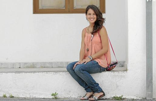 Gloria Pilar Santiago Camacho, ayer, minutos antes de la entrevista