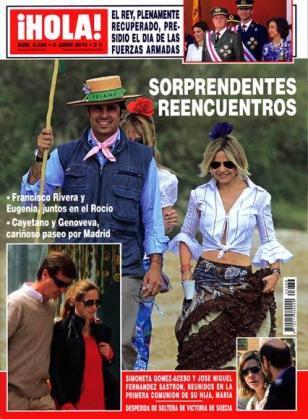 El encuentro entre Fran y Eugenia protagoniza la portada de la revista Hola.