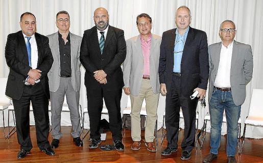 Mohammed Harit, Manolo Ginebroza, Jaime Martínez, Xisco Barceló, Biel Martí y Pep Magraner.