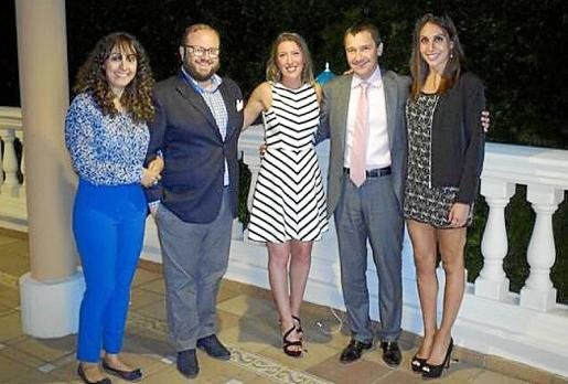 Vanessa Sánchez, Tommy Ferragut, María Navalón, Toni Ferrer y Marga Crespí.