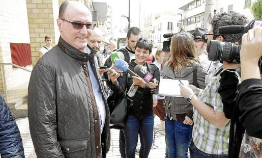 El conejal Juan Daura, tras acudir a declarar por el caso Prensa Pitiusa.