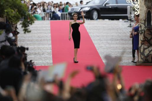 La actriz Angelina Jolie durante la promoción de 'Maléfica' en Japón, donde la película de Disney se estrena estos días.