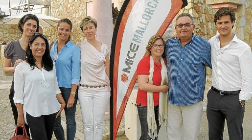 Marta Puig, Sonia Vázquez, Laure Duval, Asun Prats, Tayrne Butler, Toni Ramis y Carlos Planas.