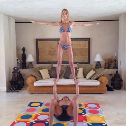 La pareja esta aprovechando sus vacaciones en Ibiza para disfrutar del verano, de su hija y de este deporte que practican juntos.