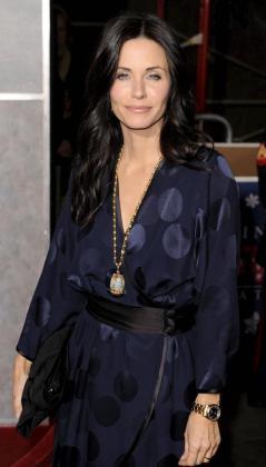 La actriz estadounidense Courtney Cox .