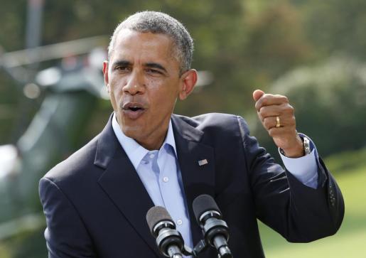 El presidente de los Estados Unidos, Barack Obama, durante la conferencia de prensa ofrecida este sábado.