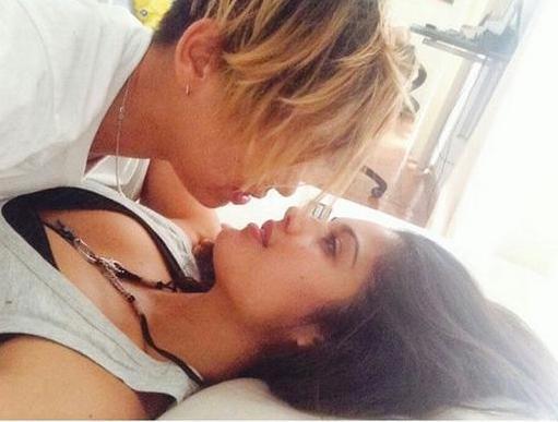 """La Miss Patricia Yurena con su novia Vanessa Klein. Esta es la imagen que publicó en su cuenta de Instagram con el texto """"Romeo and Juliet""""."""