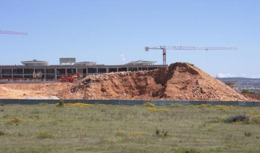 Imagen tomada en 2009 de las obras de construcción de Son Espases.