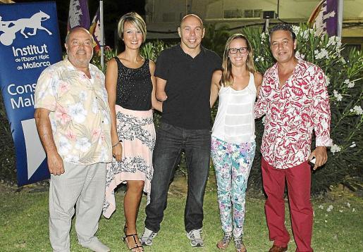 Manuel Barceló, Ester Ventura, Xavi Torres, Carlota Cerdà y Xisco Barceló.