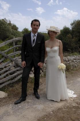 María Adánez con su novio David Murphy.