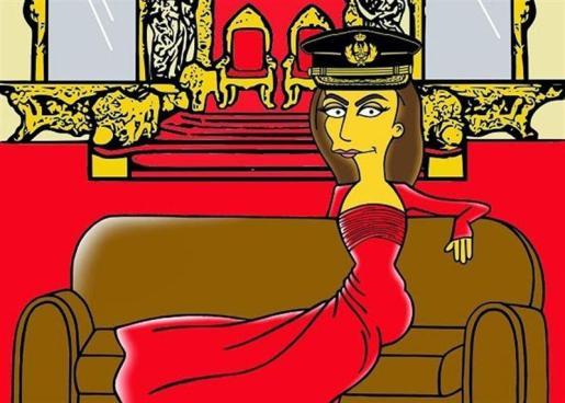 El artista Alexandro Palombo ha inmortalizado a la Reina Letizia al más puro estilo de los Simpson.